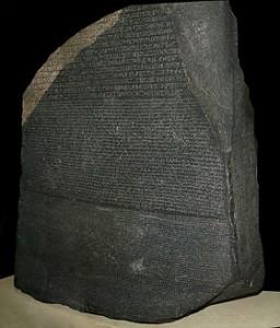 pierre-rosette-champolion-hiéroglyphe