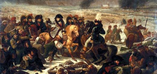 Napoléon dans la bataille d'Eylau