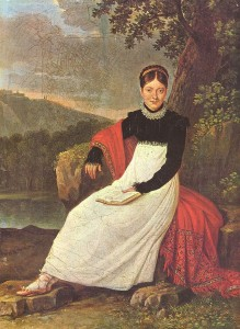 Caroline en costume traditionnel de paysanne napolitaine1813