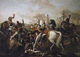 Napoléon blessé à Ratisbonne