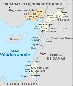 Les Etats Latin d'Orient en 1102