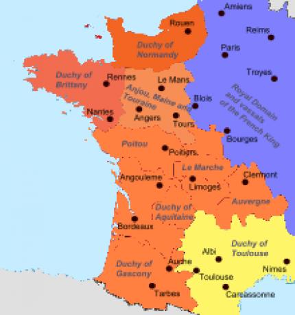 Empire Plantagenêt fin du 12ème siècle