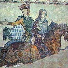 Jean Sans Terre et sa mère Aliénor d'Aquitaine
