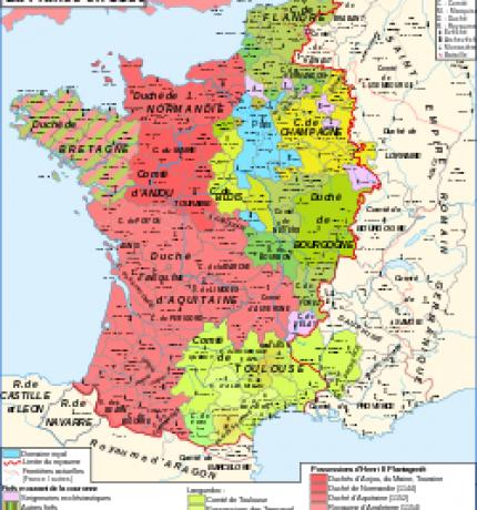 La France à la fin du XIIème siècle