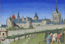 Paris 15ème siècle île de la Cité