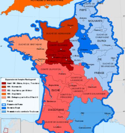 Royaume de France en 1154