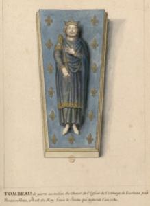 Tombeau de Louis VII dans l'abbaye de Barbeau