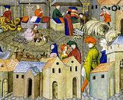 Marchands au Moyen Âge