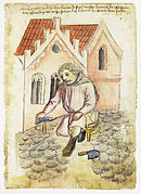 Paveur au 15ème siècle