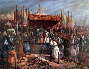 Saladin et Guy de Lusignan