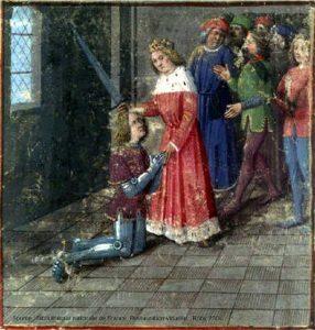 Adoubement d'un chevalier