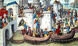Conquête de Constantinople par les croisés en 1204