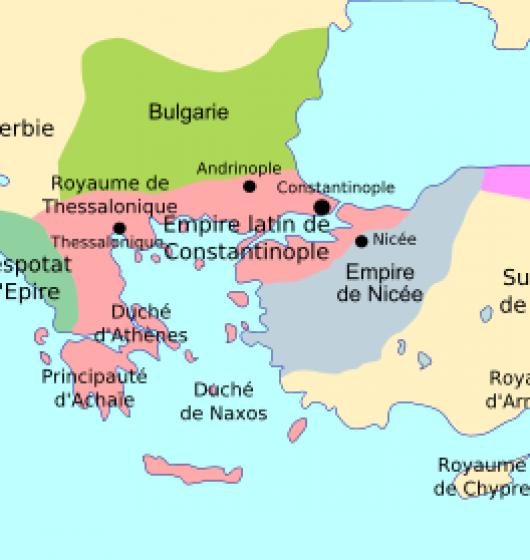 Empire byzantin en 1204
