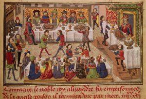 Grandes tablées au Moyen Âge