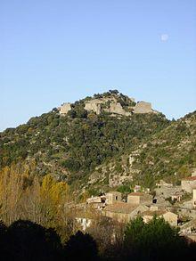 Le château et le village de Termes