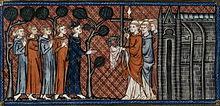 Saint-Louis recevant la Sainte Couronne