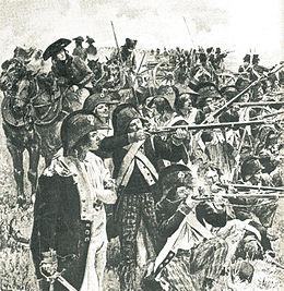 Bataillon carré Républicain au combat à Luçon