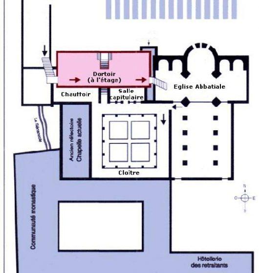 Plan-de-l'abbaye- de -Sénanque