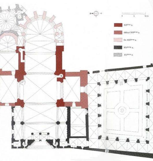 Plan de la Cathédrale de Béziers