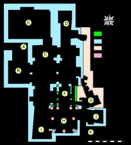 Plan de la Crypte de l'Abbaye de Saint-Victor