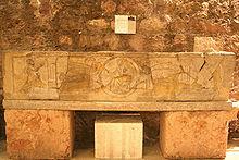 Sarcophage du Christ trônant