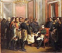 Napoléon signe son abdication à Fontainebleau