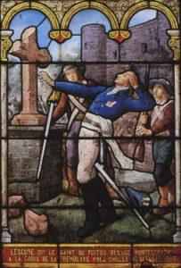 Lescure blessé à la bataille de La Tremblaye