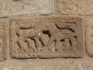 Sculptures extérieures sur le chevet, lion