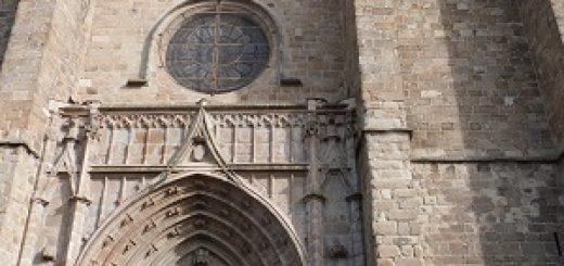 Rosace extérieure et portail d'entrée