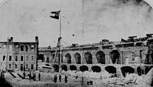 Fort Sumter après le bombardement