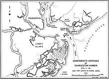 Port de Charleston en1860