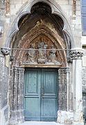Portail latéral nord du 14ème siècle