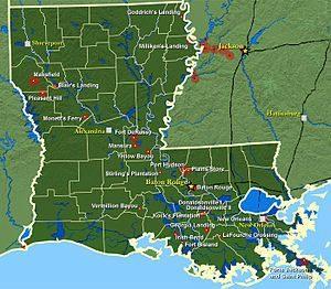 Batailles en Louisiane pendant la guerre civile