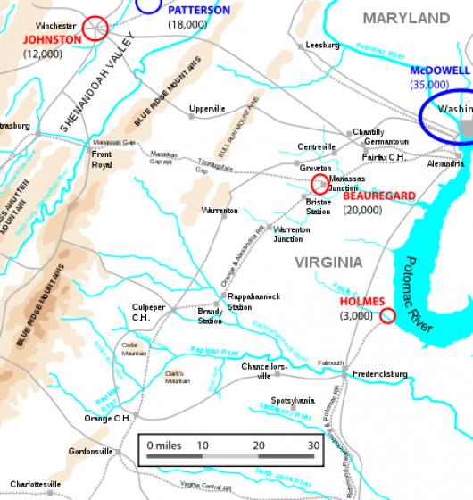 Plan-de-la-bataille-de-Bull-Run-en-juillet-1861