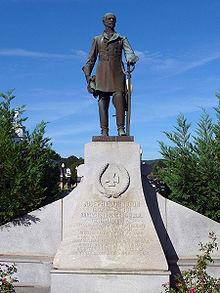 Statue de Johnston à Dalton en Géorgie
