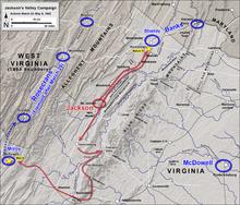 Plan de la bataille de Kernstown
