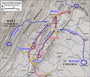 Plan de la bataille de Front Royal
