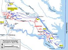 Plan de la bataille de Seven Pines