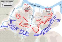 Plan de la bataille le 14 février