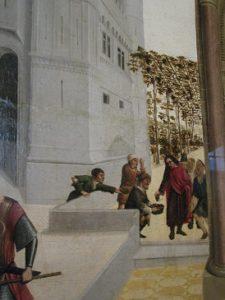 Saint Mitre distribuant le raisin aux pauvres