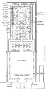Plan du temple d'Edfou