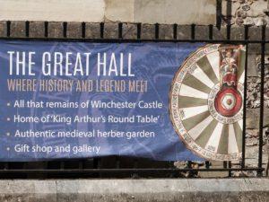 Le Grand Hall, où l'Histoire et la légende se rencontrent, vestiges du Château de Winchester et la Table ronde du roi Arthur