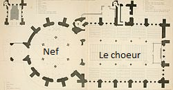 Plan de l'Eglise du Temple