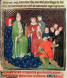 Clément V et Philippe le Bel face aux Templiers