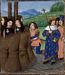 Mise à mort des Templiers