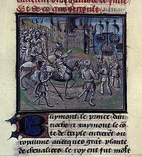 Saladin incendiant une cité