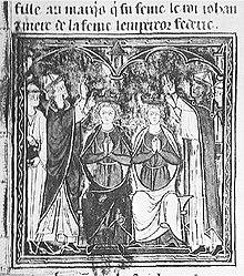 Couronnement de Jean de Brienne et de Marie de Montferrat (1210).