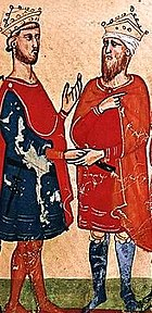 Frédéric II et le sultan Muhammad al-Kamil
