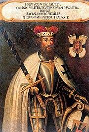 Hermann von Salza Grand Maître des chevaliers Teutoniques