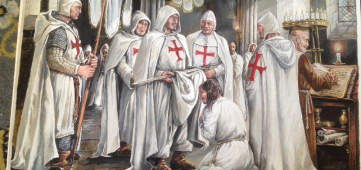 Les chevaliers du Temple - Les peintures sont de Nan Emile